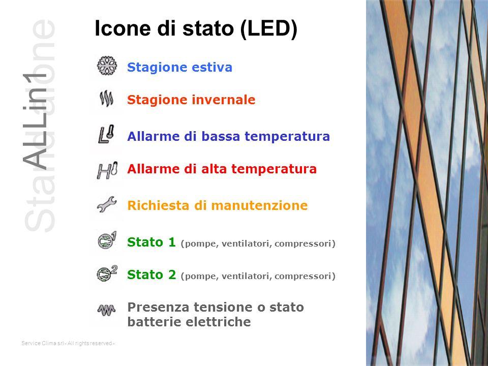 Stand alone ALLin1 Icone di stato (LED) Stagione estiva