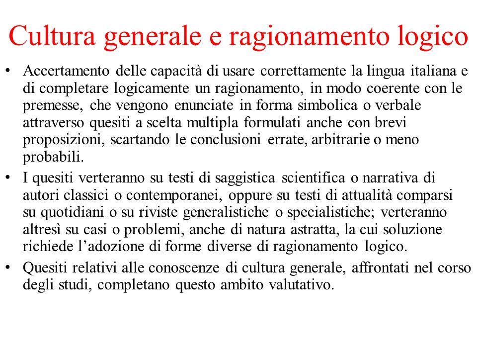 Cultura generale e ragionamento logico