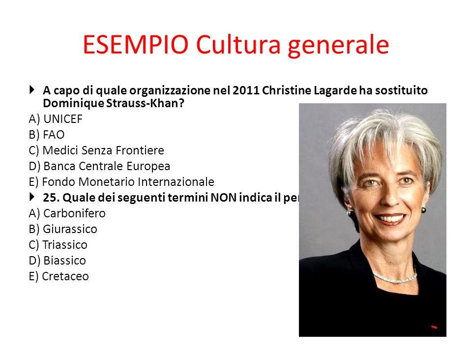 ESEMPIO Cultura generale