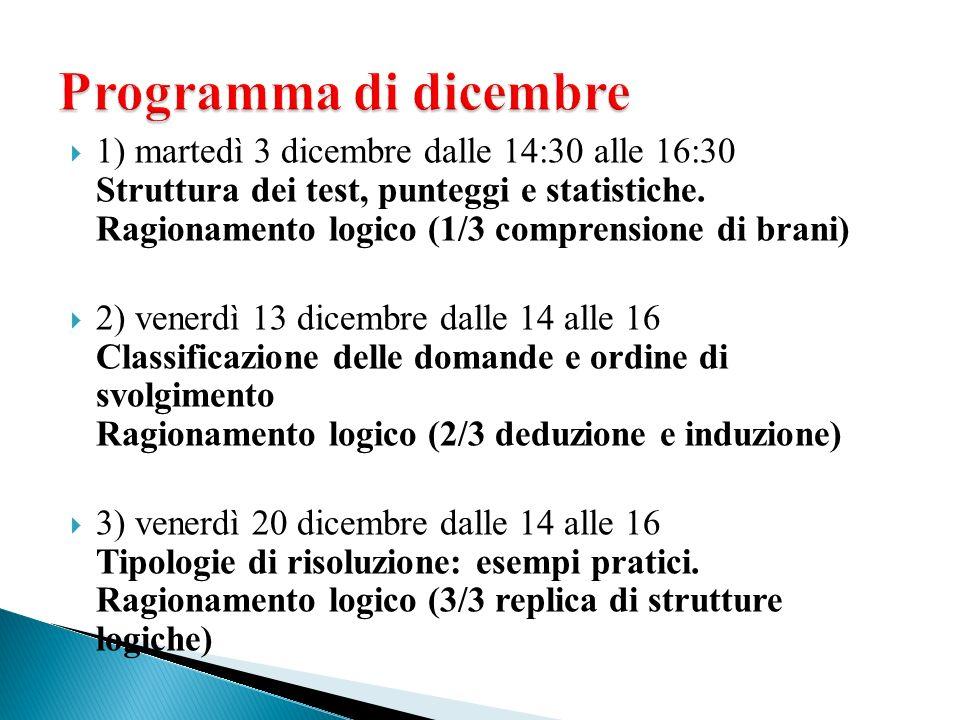 Programma di dicembre