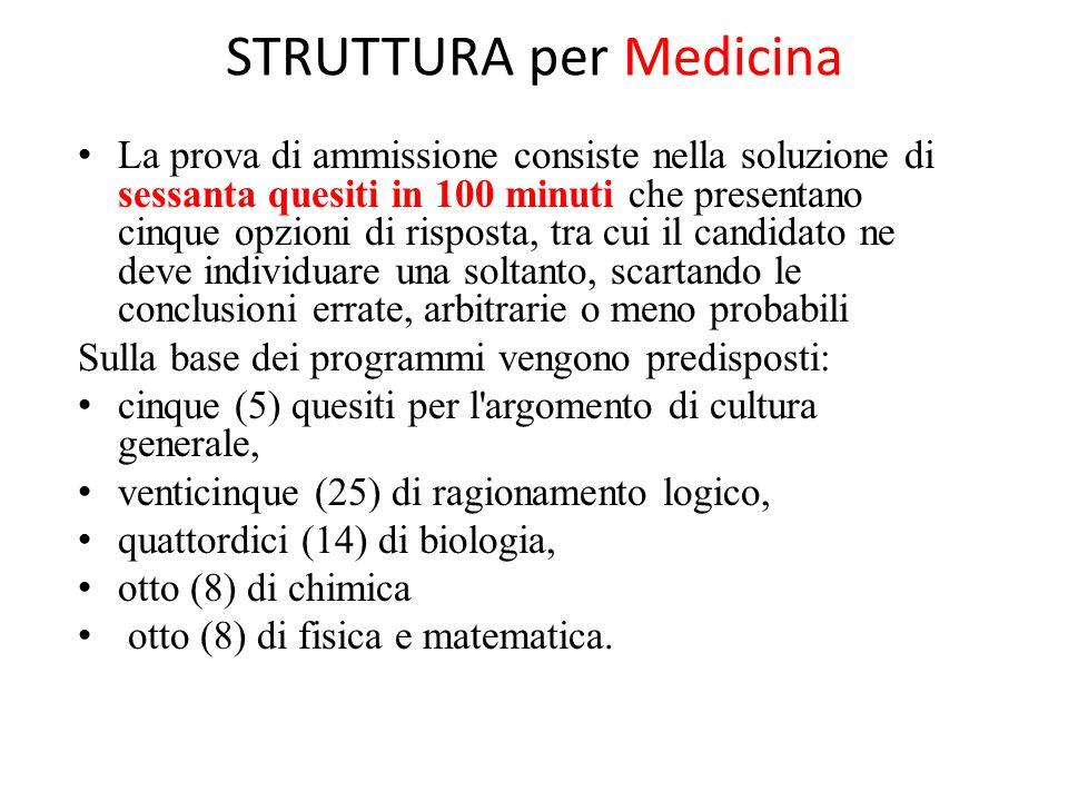 STRUTTURA per Medicina