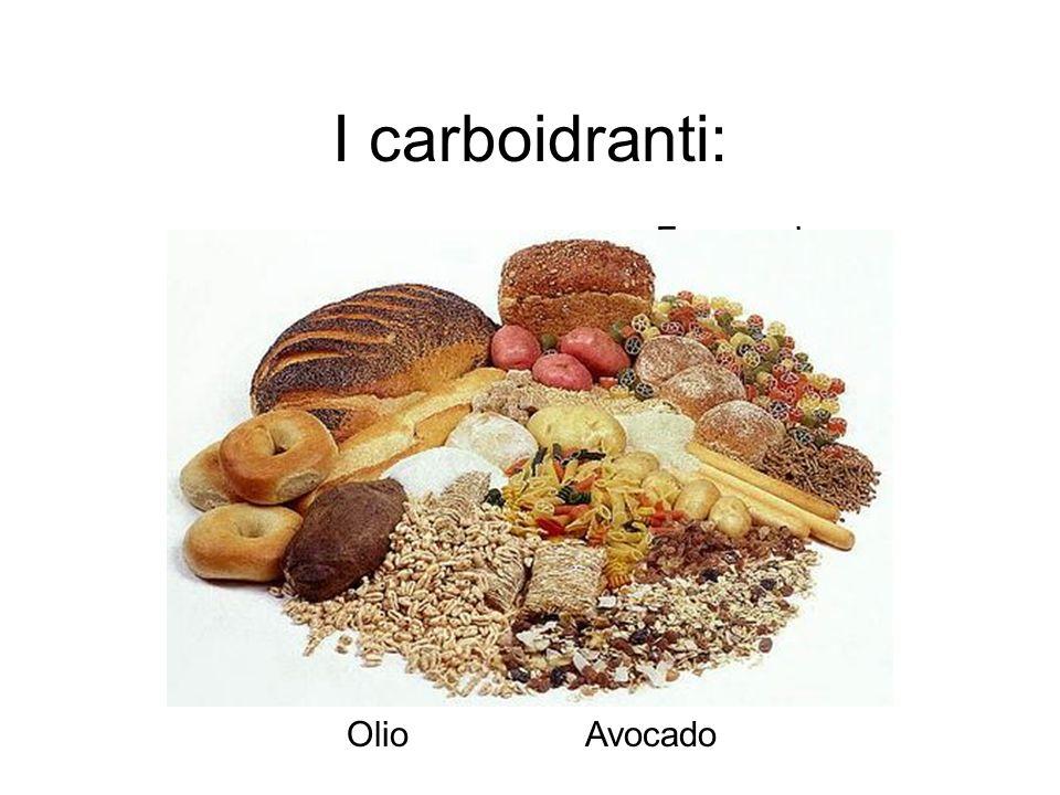 I carboidranti: Formaggio Uova Noci Pesce Tofu Olio Avocado