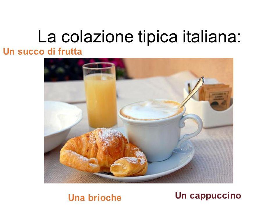 La colazione tipica italiana:
