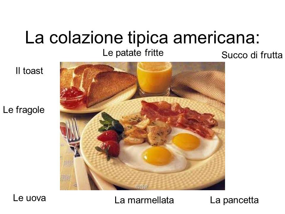 La colazione tipica americana: