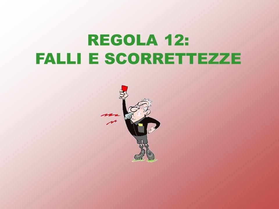 REGOLA 12: FALLI E SCORRETTEZZE