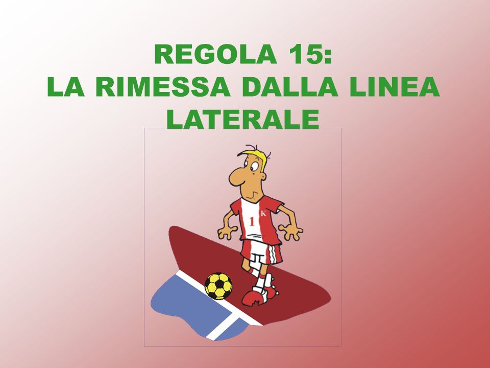 REGOLA 15: LA RIMESSA DALLA LINEA LATERALE