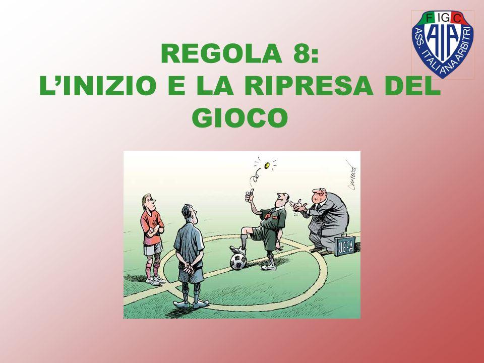 REGOLA 8: L'INIZIO E LA RIPRESA DEL GIOCO