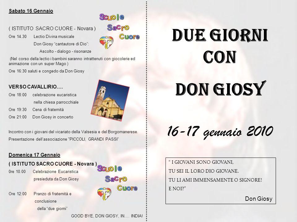 Due giorni con Don Giosy