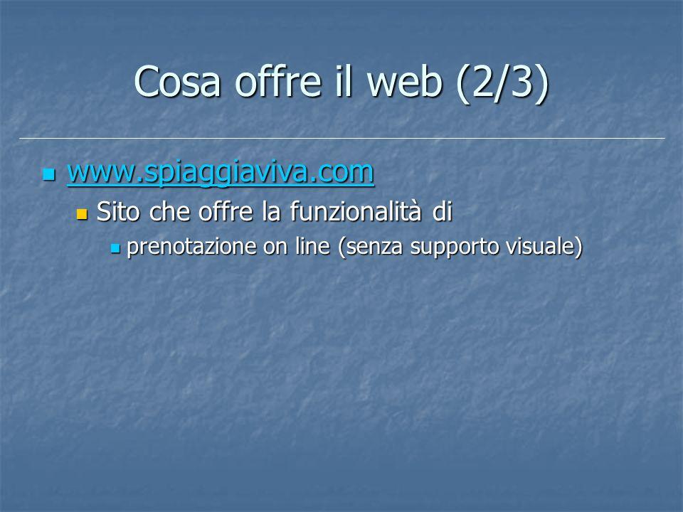 Cosa offre il web (2/3) www.spiaggiaviva.com