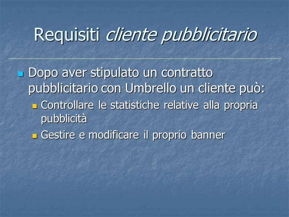 Requisiti cliente pubblicitario