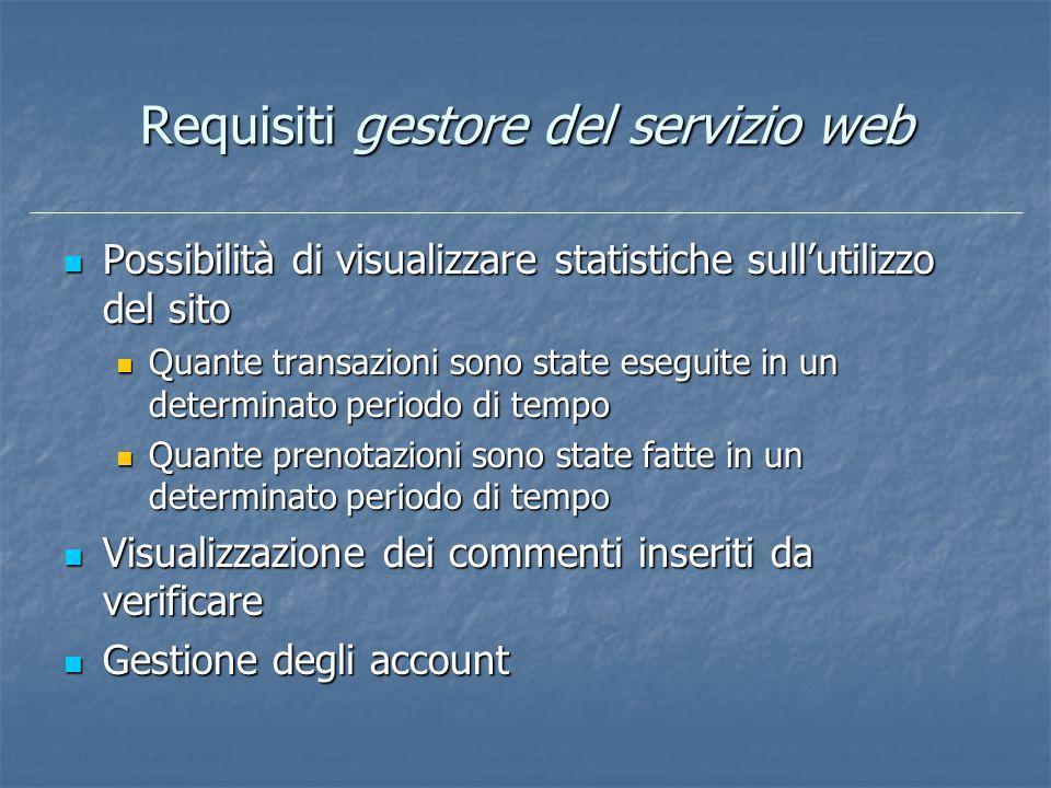 Requisiti gestore del servizio web