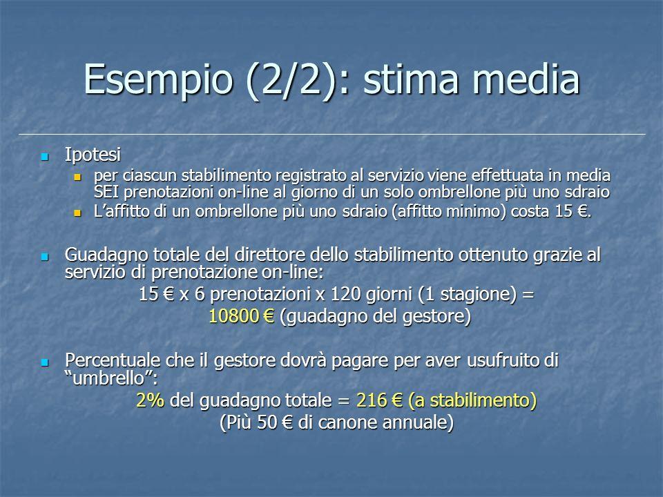 Esempio (2/2): stima media