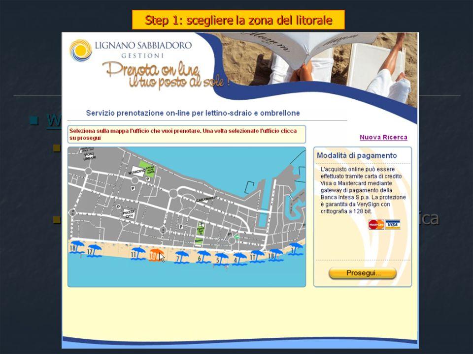 Step 1: scegliere la zona del litorale