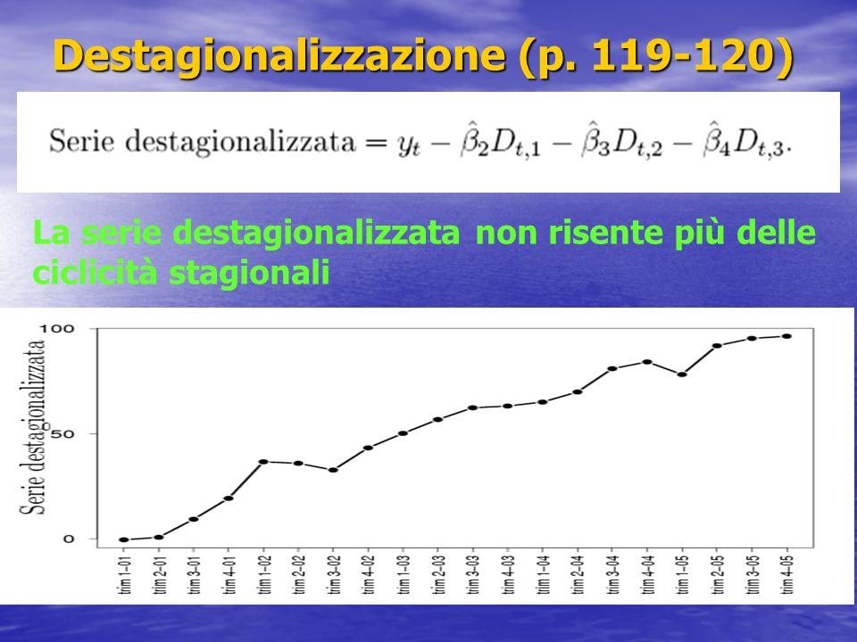 Destagionalizzazione (p. 119-120)