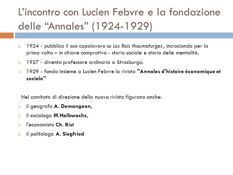 L'incontro con Lucien Febvre e la fondazione delle Annales (1924-1929)
