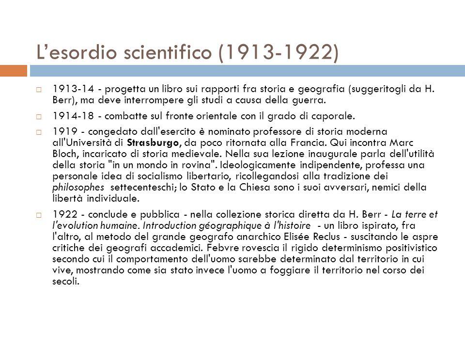 L'esordio scientifico (1913-1922)