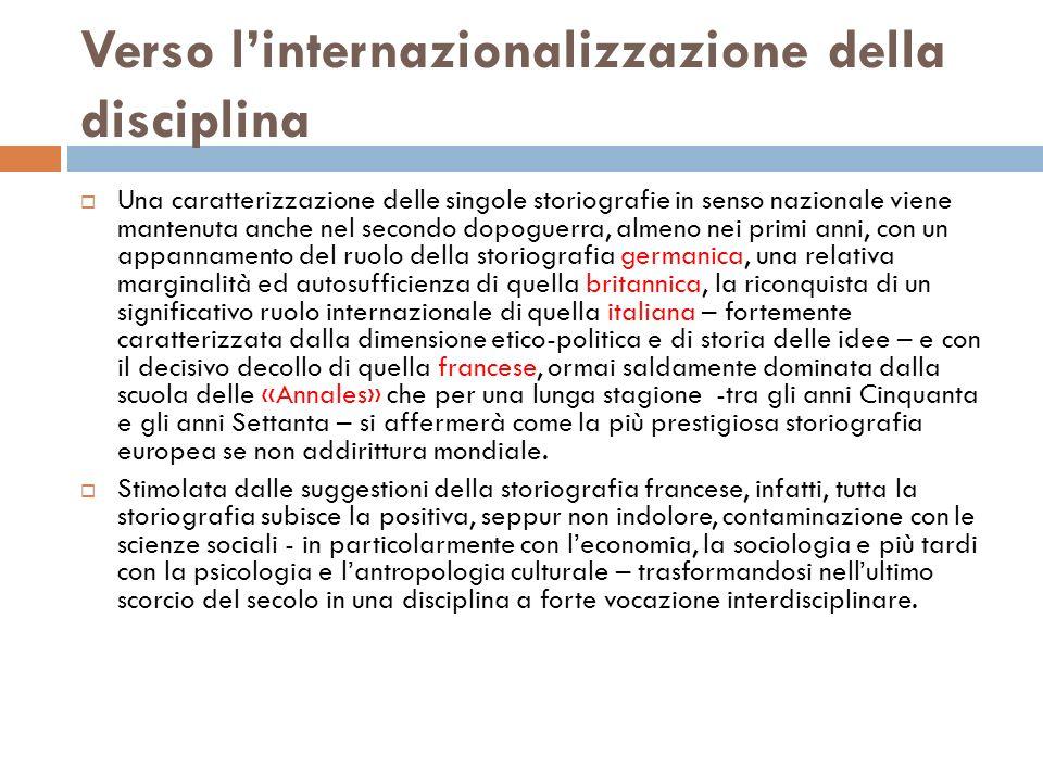 Verso l'internazionalizzazione della disciplina