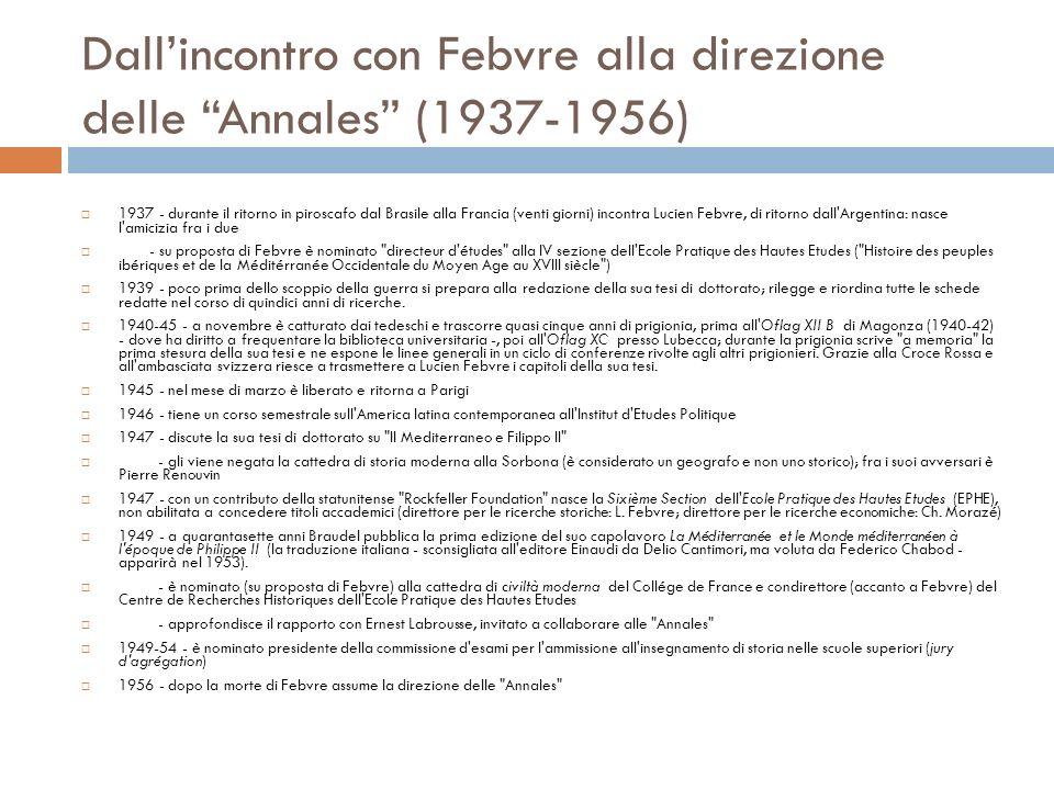 Dall'incontro con Febvre alla direzione delle Annales (1937-1956)