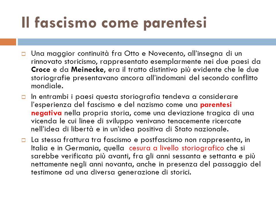 Il fascismo come parentesi