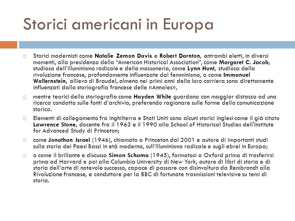 Storici americani in Europa