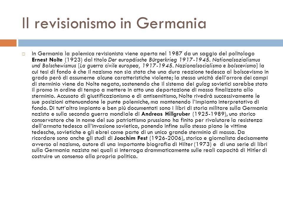 Il revisionismo in Germania