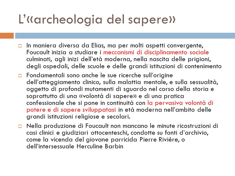 L'«archeologia del sapere»