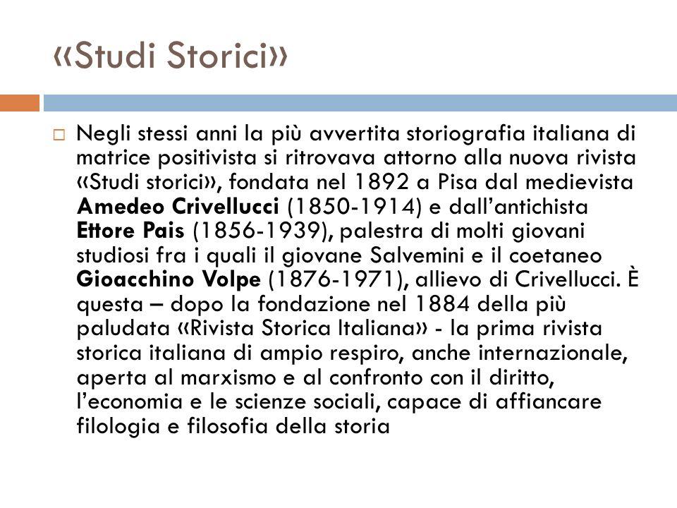 «Studi Storici»