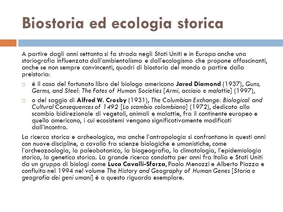 Biostoria ed ecologia storica