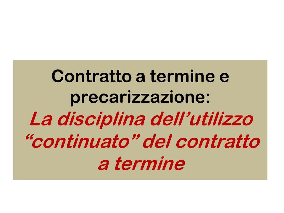 La disciplina dell'utilizzo continuato del contratto a termine