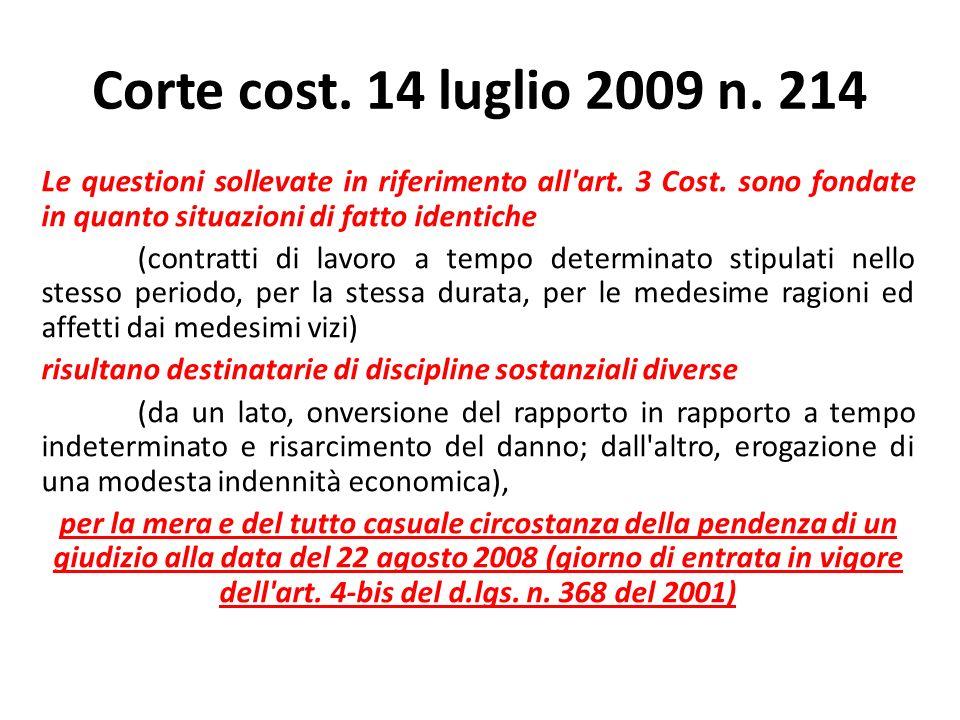 Corte cost. 14 luglio 2009 n. 214