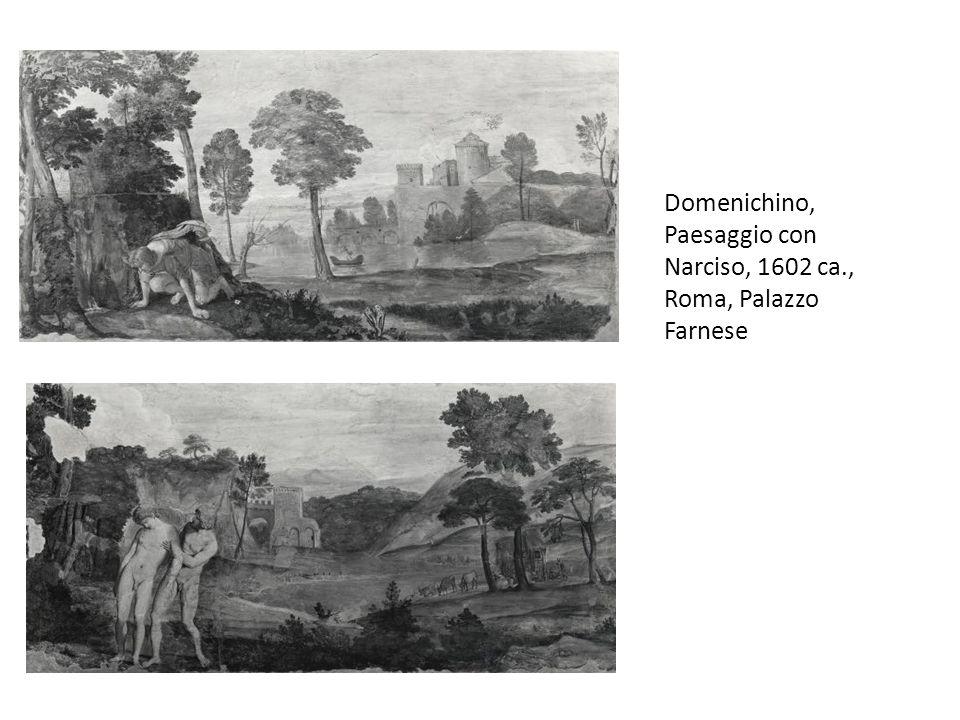 Domenichino, Paesaggio con Narciso, 1602 ca., Roma, Palazzo Farnese