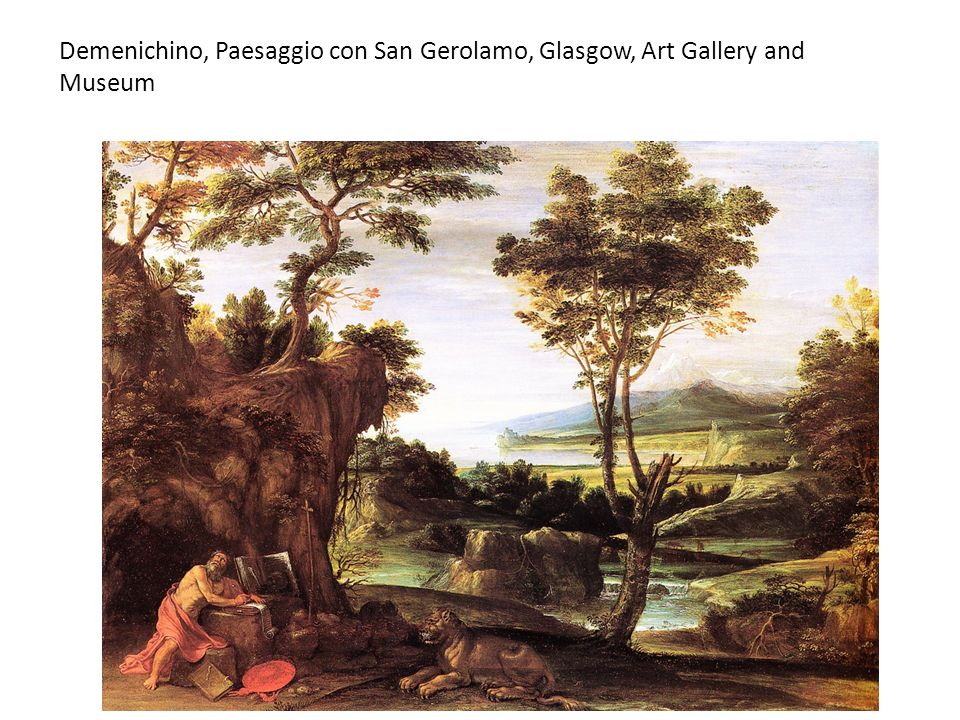 Demenichino, Paesaggio con San Gerolamo, Glasgow, Art Gallery and Museum