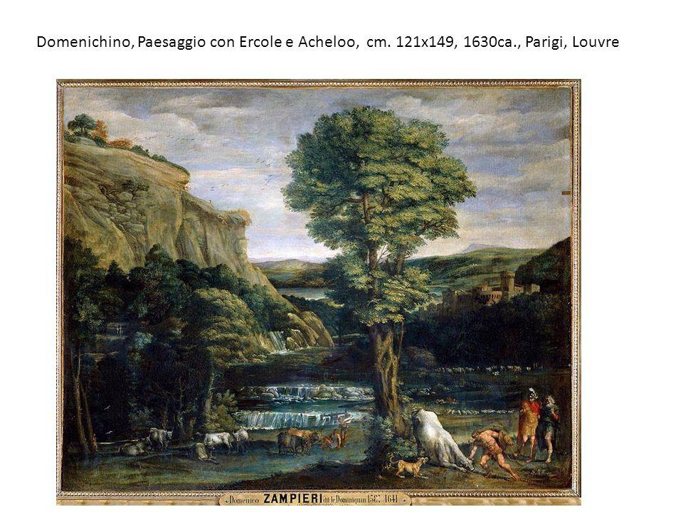 Domenichino, Paesaggio con Ercole e Acheloo, cm. 121x149, 1630ca