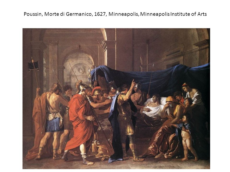 Poussin, Morte di Germanico, 1627, Minneapolis, Minneapolis Institute of Arts