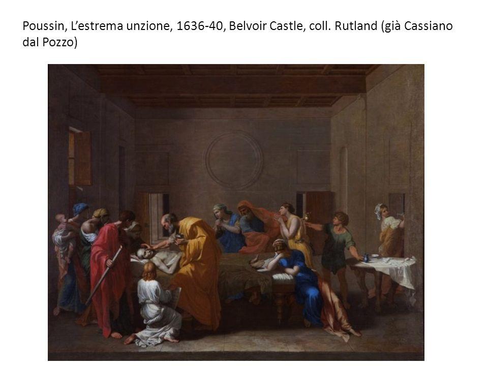 Poussin, L'estrema unzione, 1636-40, Belvoir Castle, coll