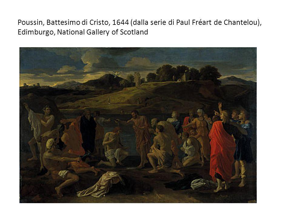 Poussin, Battesimo di Cristo, 1644 (dalla serie di Paul Fréart de Chantelou), Edimburgo, National Gallery of Scotland
