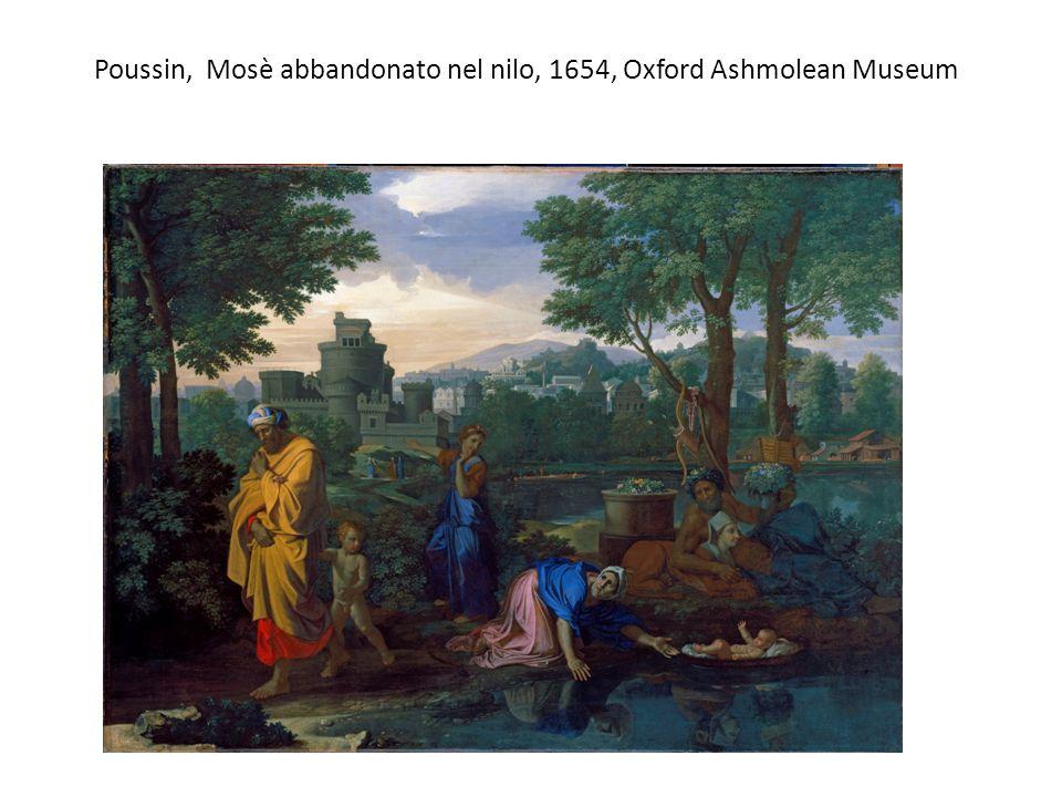 Poussin, Mosè abbandonato nel nilo, 1654, Oxford Ashmolean Museum