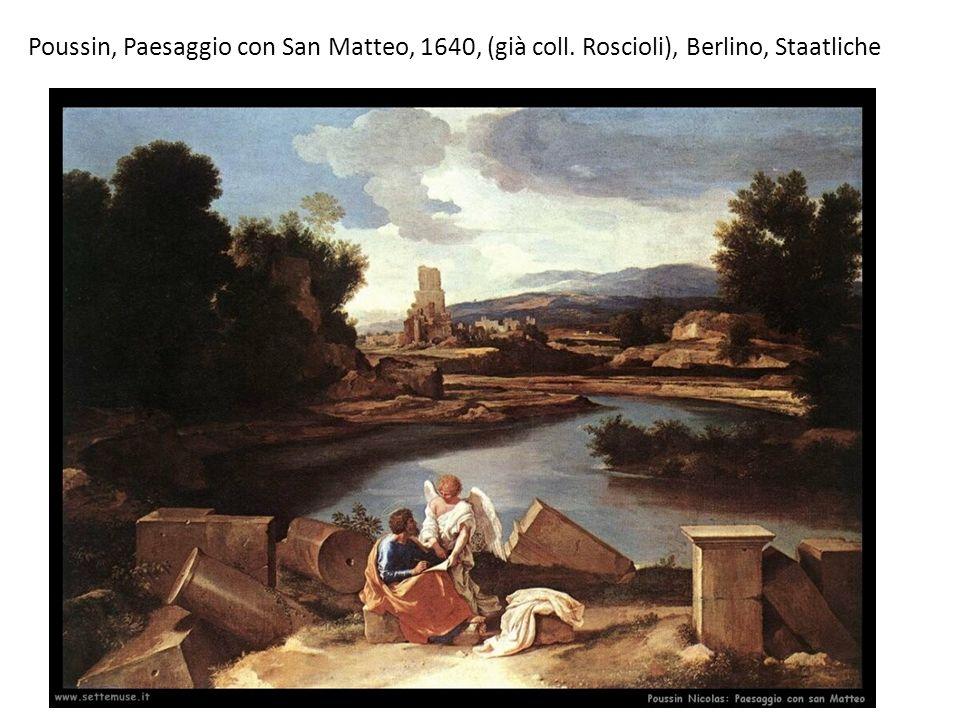 Poussin, Paesaggio con San Matteo, 1640, (già coll
