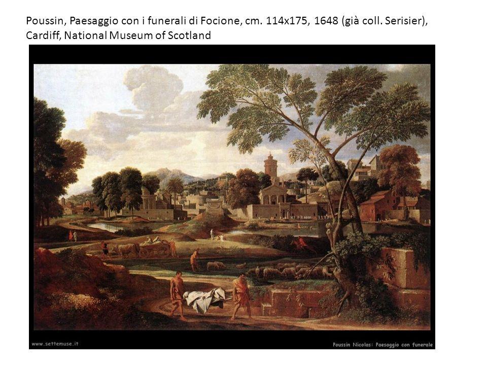 Poussin, Paesaggio con i funerali di Focione, cm