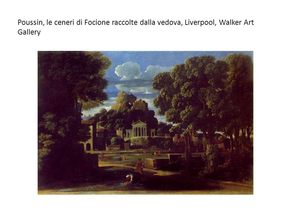 Poussin, le ceneri di Focione raccolte dalla vedova, Liverpool, Walker Art Gallery