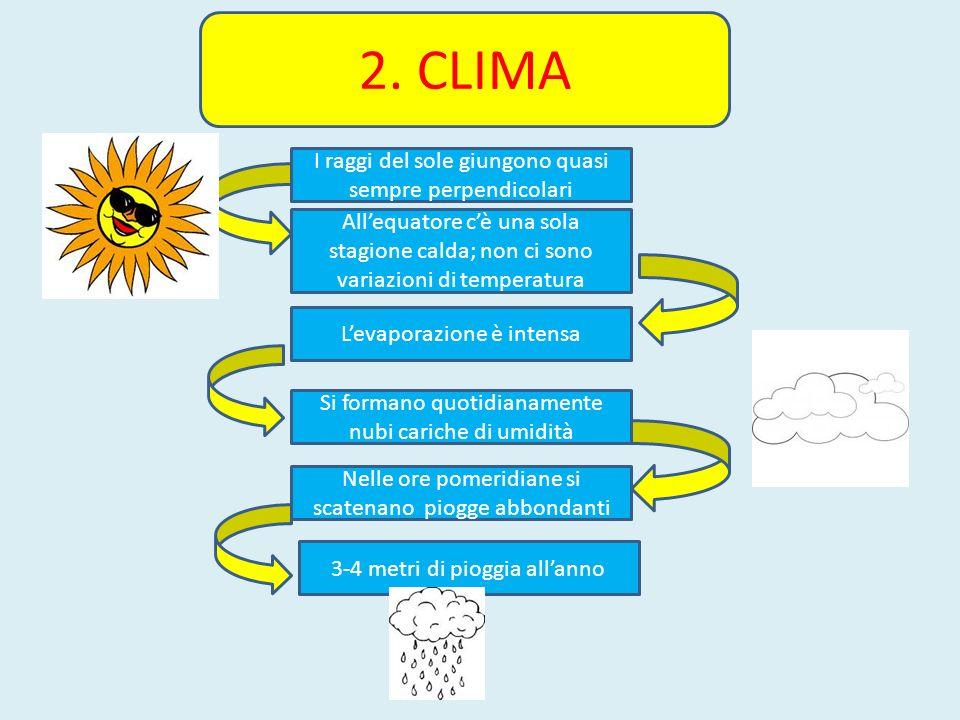 2. CLIMA I raggi del sole giungono quasi sempre perpendicolari