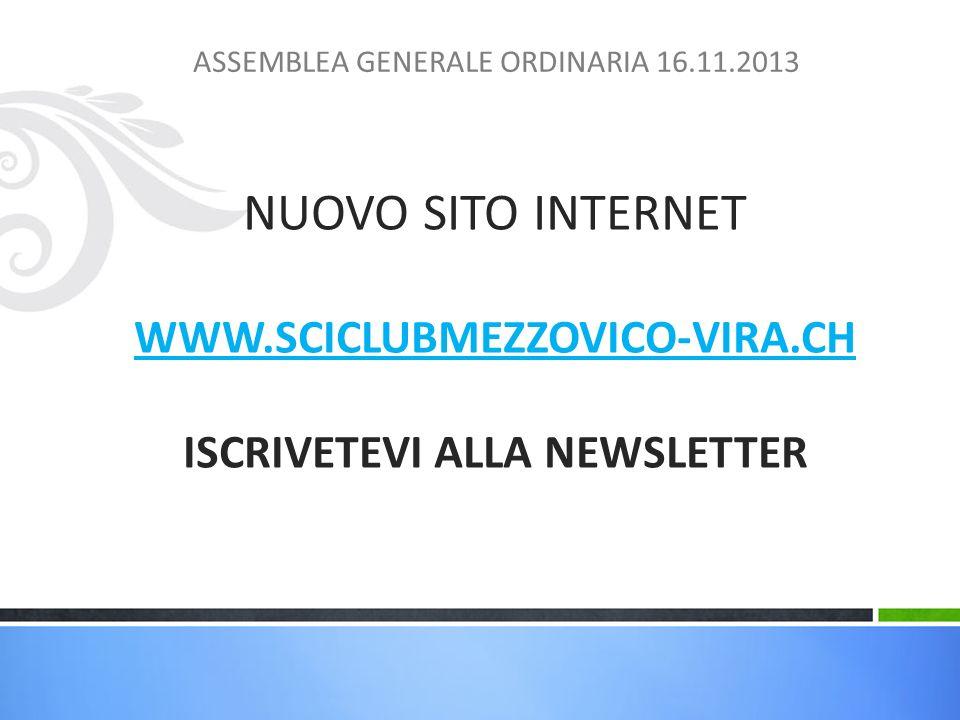 ASSEMBLEA GENERALE ORDINARIA 16.11.2013