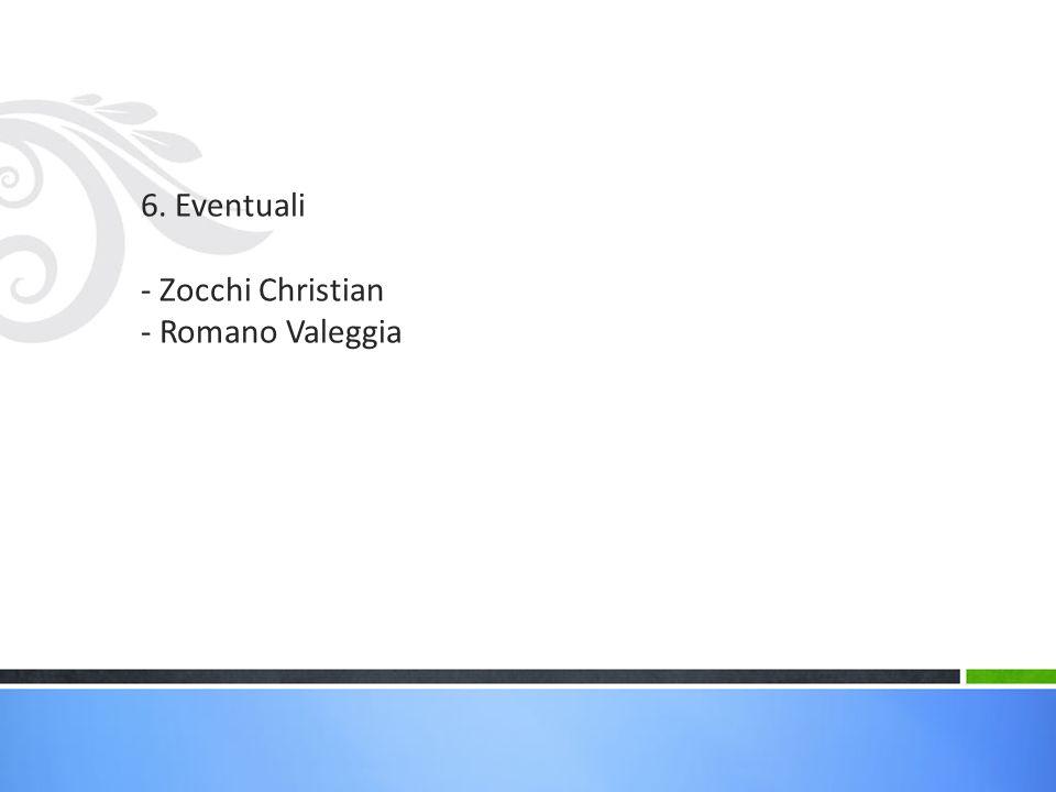 6. Eventuali - Zocchi Christian - Romano Valeggia