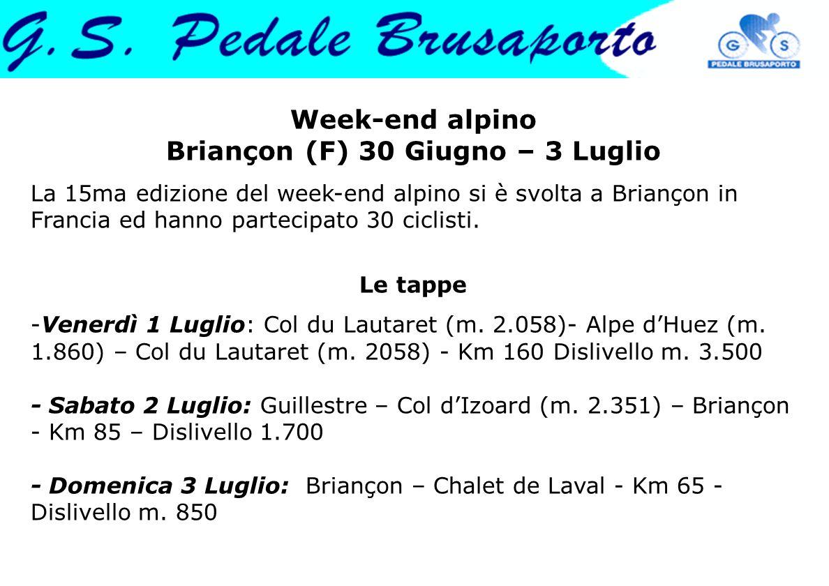 Week-end alpino Briançon (F) 30 Giugno – 3 Luglio