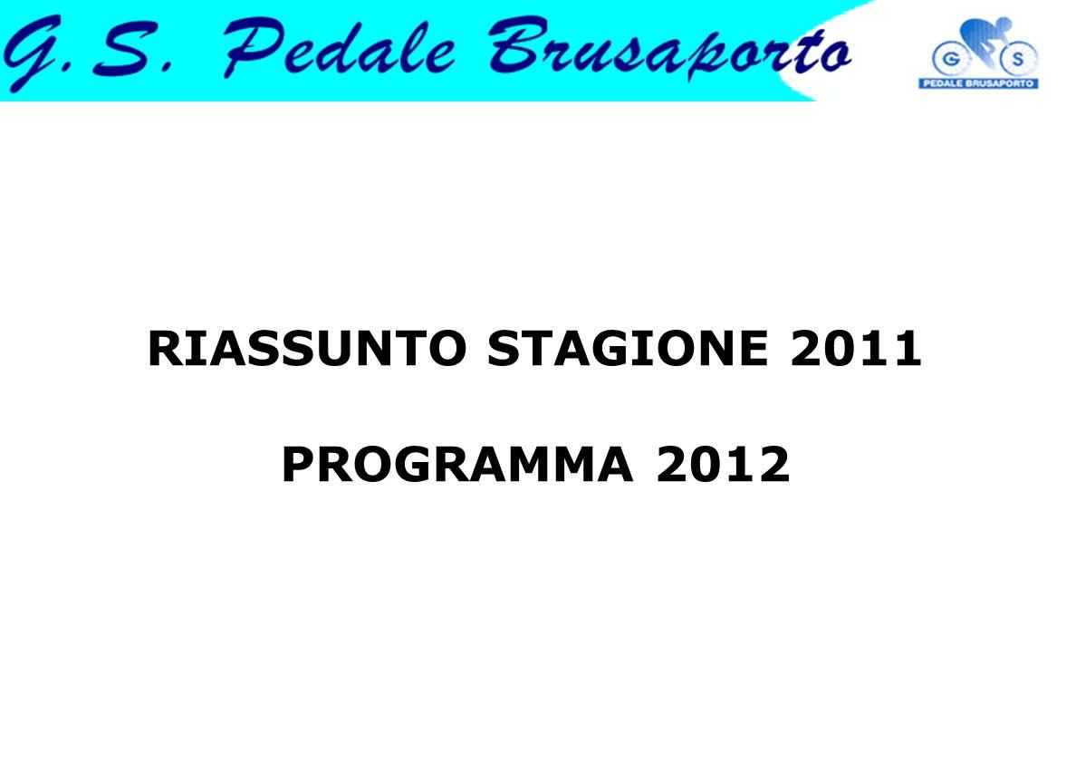 RIASSUNTO STAGIONE 2011 PROGRAMMA 2012