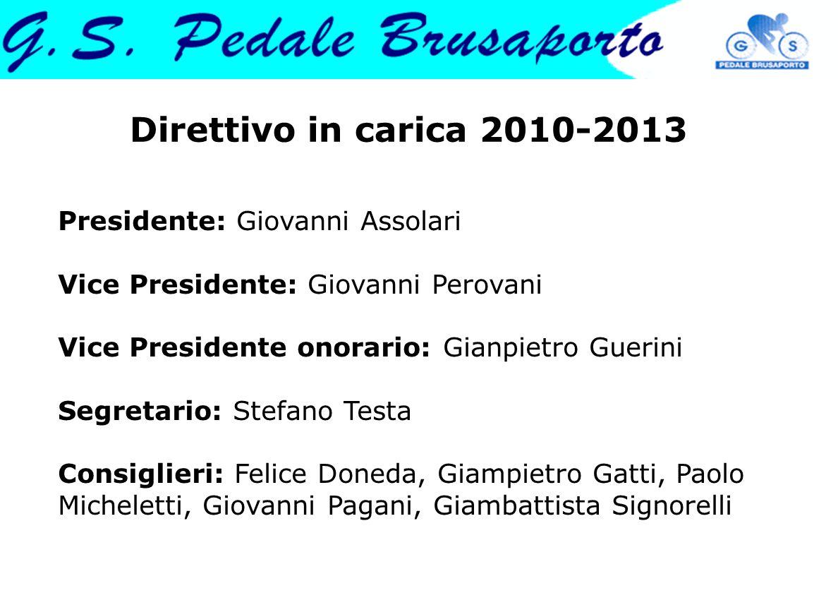 Direttivo in carica 2010-2013 Presidente: Giovanni Assolari