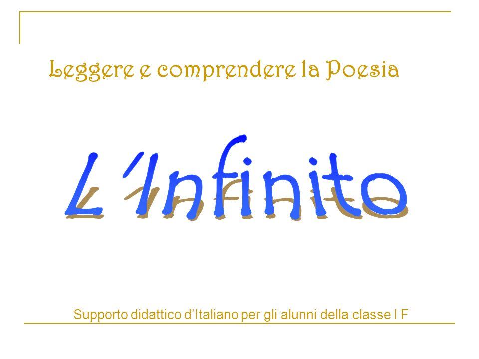 Supporto didattico d'Italiano per gli alunni della classe I F