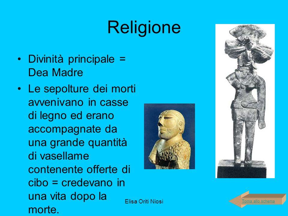 Religione Divinità principale = Dea Madre