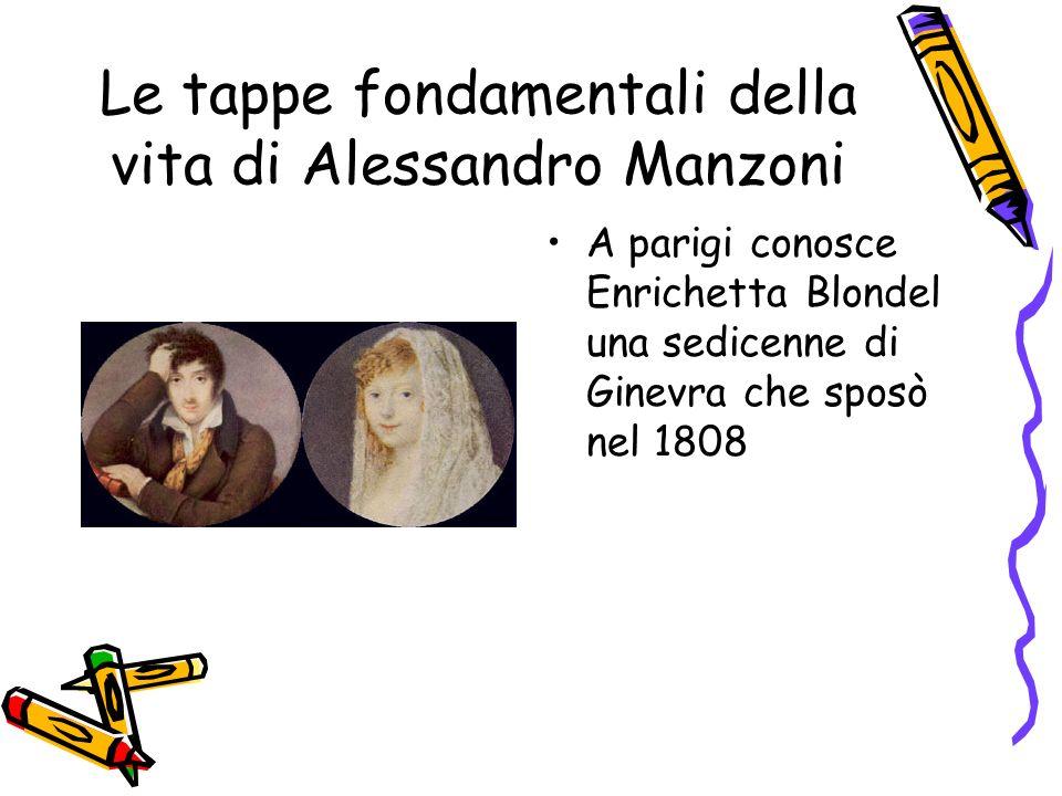 Le tappe fondamentali della vita di Alessandro Manzoni