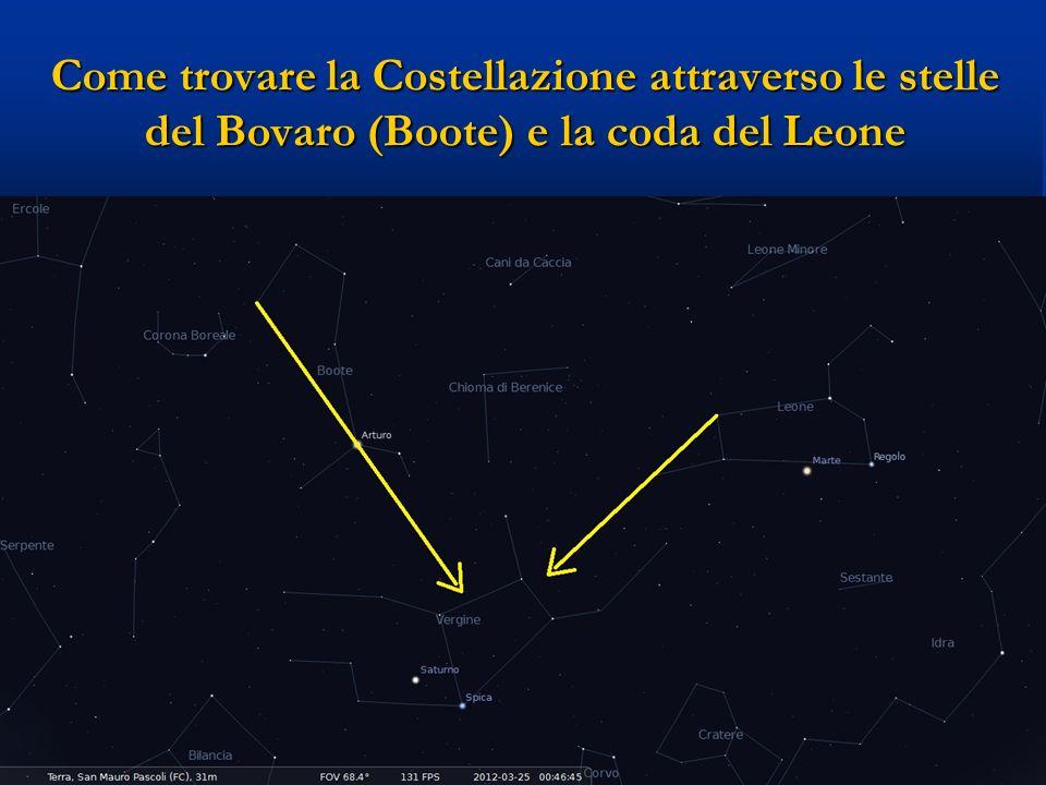Come trovare la Costellazione attraverso le stelle del Bovaro (Boote) e la coda del Leone